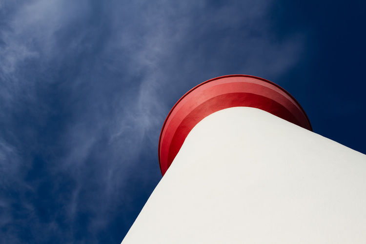 Leuchtturm Lighthouse Leuchtturm Sky Red Low Angle View Cloud - Sky Nature Day Architecture White Color