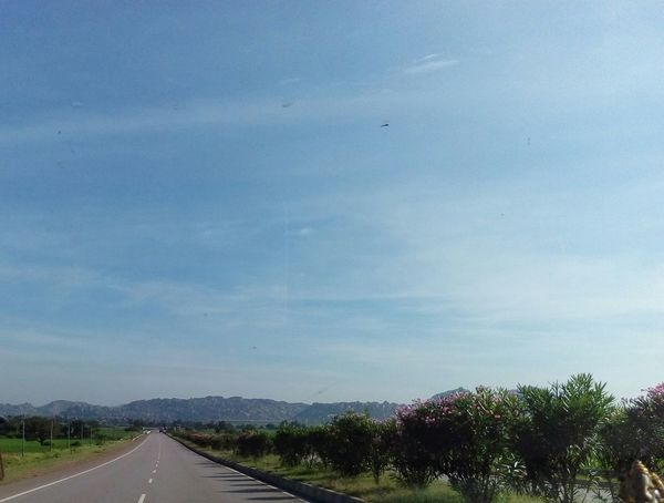 Blue Clear Sky Copy Space Horizon Over Land Landscape Long Roads Scenics Sky