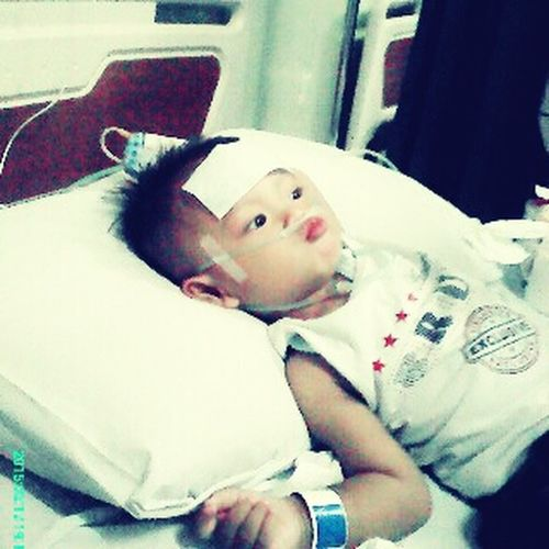 My god please heal this innocent child, give him the syrength to get through illness