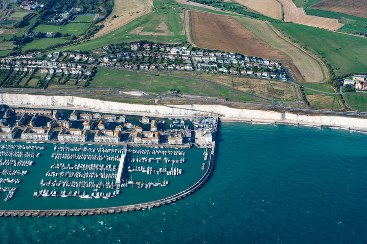 Brighton from the air Water Aerial View Transportation Sea Day High Angle View Architecture Nautical Vessel Nature Built Structure No People Building Exterior Outdoors Mode Of Transportation Land Scenics - Nature Travel Environment Travel Destinations