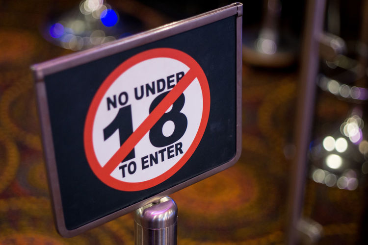 Bokehlicious Gambling Sign Signage Signs Age Bokeh Bokeh Lights Bokeh Photography Gambling Addiction Signboard Stop
