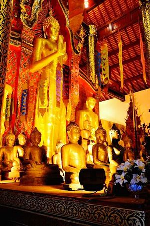 Buddhas Buddha Statue Decor Of Temple Temple Chaingmai Chaing Mai Tailand