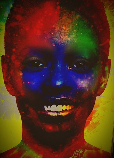 Originaldesign Illuminated Eyeemphotography Digital Imaging Digitalart  Looking At Camera EyeEmBestEdits Auto Post Production Filter One Young Woman Only Adults Only Multi Colored Pop Art Tat Headshot Smiling Horror Spooky Vibrant Color Ebola Grunge EbolaVirus Tribal Fusion African Woman  African Girl  Zombie #zombiegirl #zombienation #voodoo #popart