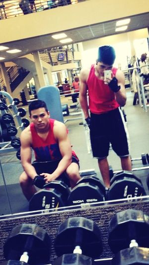 Chilling At The Gym