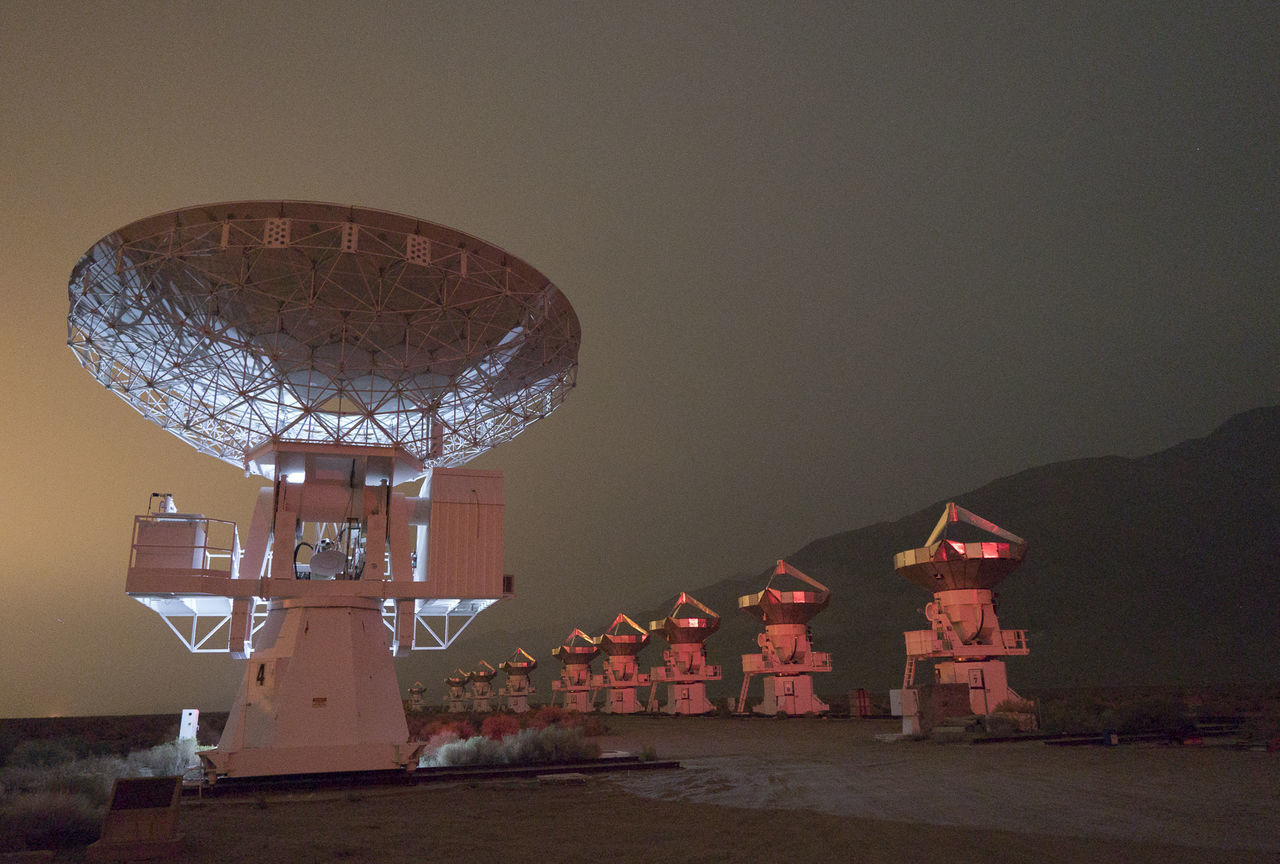 technology, built structure, communication, night, sky, architecture, no people, outdoors, radar, nature, astronomy