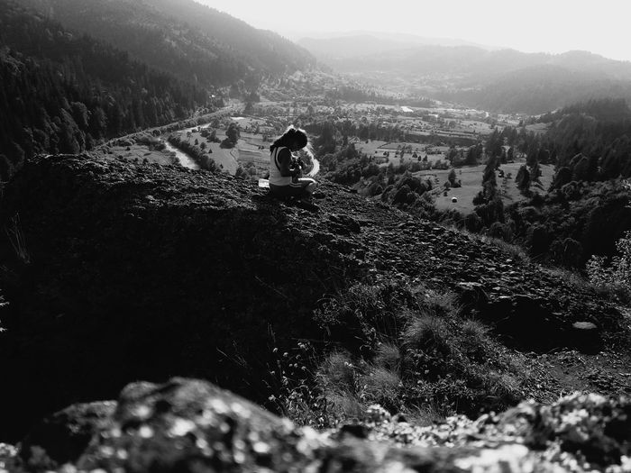 Do you have any idea what awaits you? Blackandwhite Heights Isolation Nature Romania Mûres Relaxation Explore Adventure Little Girl Naive