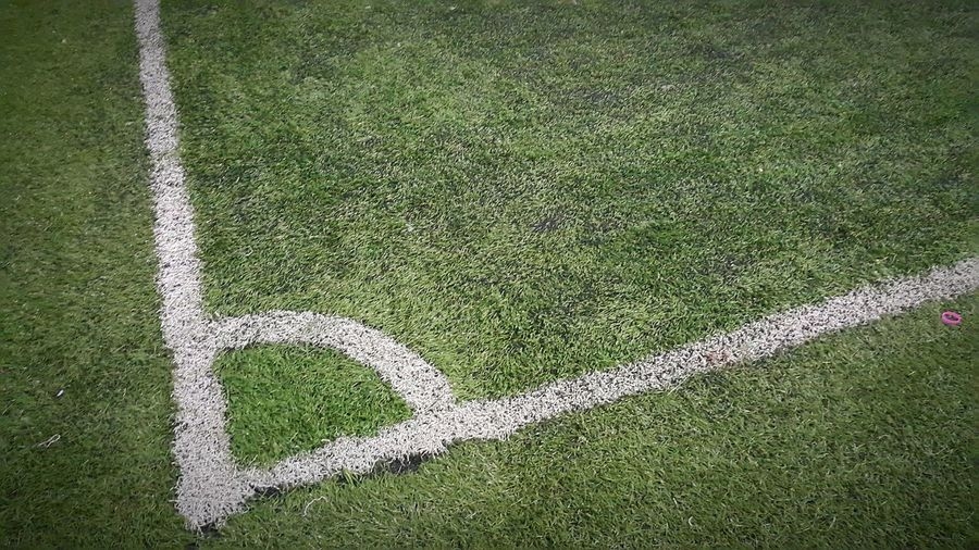 Corner marking on american football field