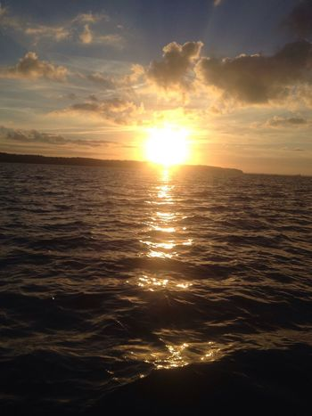 Beautiful Relaxing Isle Of Wight  Sea And Sky Sunset Bright