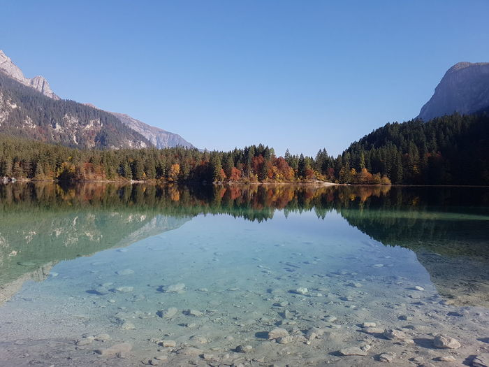 Lake Sky Trees Nature Outdoors No People Beauty In Nature Clear Water Water Reflection Mountains Lake View Nature_collection Alps Stunning_shots Scenics From My Point Of View Getting Inspired Taking Photos October Fall Colors Fall Beauty Amazing View Lago Di Tovel Trentino Alto Adige