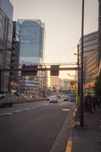 25 OCTOBER 2017 TOKYO JAPAN : Twilight time in Shinjuku street Shinjuku Shinjuku City Shinjuku Station Architecture Building Exterior Built Structure City Day Outdoors Shinjuku,tokyo