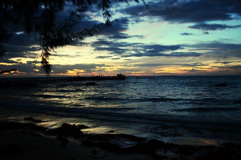 Sunrise at nature beach on Koh Rong island Sunrise Early Morning Koh Rong Cambodia Backpacking