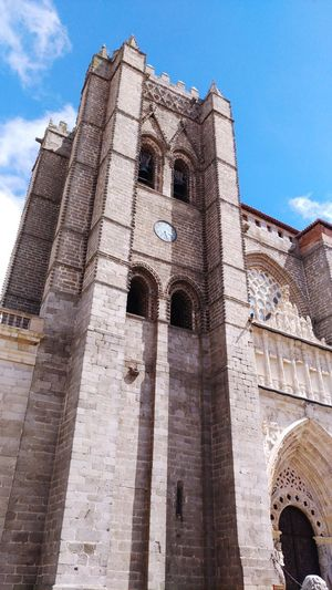 Religion Architecture History Travel Destinations Cloud - Sky Spirituality Built Structure No People Ancient Civilization Outdoors Place Of Worship Ancient Low Angle View Travel Day Building Exterior Old Ruin Arch Sky Avila, Spain