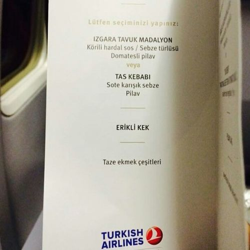 Ok,I understand😒 Foodmenu Airline Food Keep Smiling Hungry Traveling Flying I'm Hungry  IPhoneography My Life PhonePhotography Food And Drink Sahar Iranian Life Turkish Airlines Turkish Food Happy People Soon Foodphotography