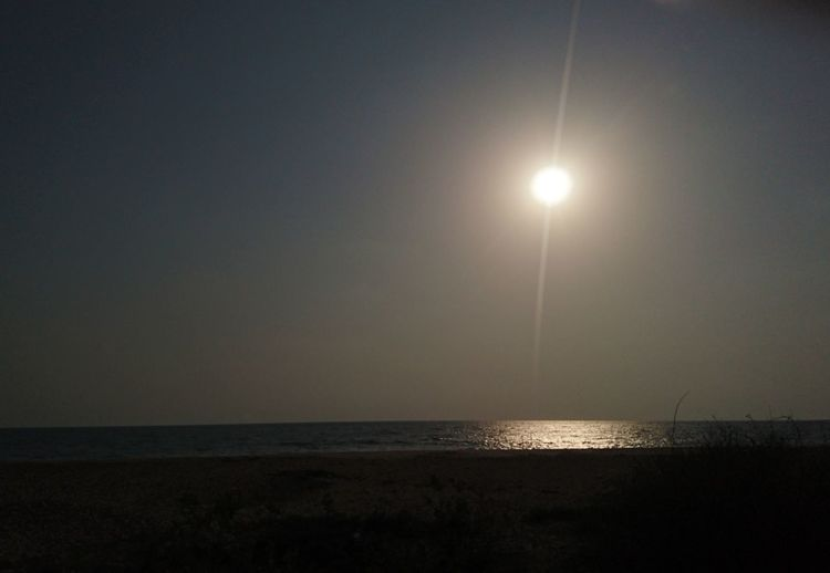 Sea Sun Water Horizon Over Water Beach Moon Scenics Beauty In Nature Nature Sunset Tranquil Scene Sky Tranquility No People Outdoors Travel Destinations Astronomy XperiaZ5 Sony Xperia Xperıa Mobile Phone Photography Mobiography India Bhatkal