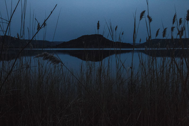 Augenklicked Bluehour Cold Colors Lake Landscape Liausson Nature Outdoors Reef Reflection Salagou Lake Water