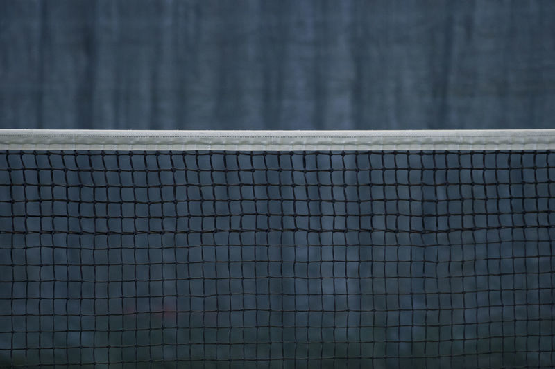 Close-up of net on tennis court