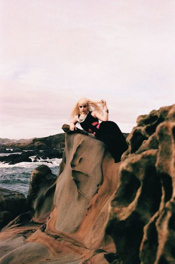 Channeling Amphitrite Organsinsleep Film Analog Magic California Goddess Witch Mothernature Empowerment  Neonlolita Laurenluck Colors Woman Supernatural 35mm Landscape Nature Aura