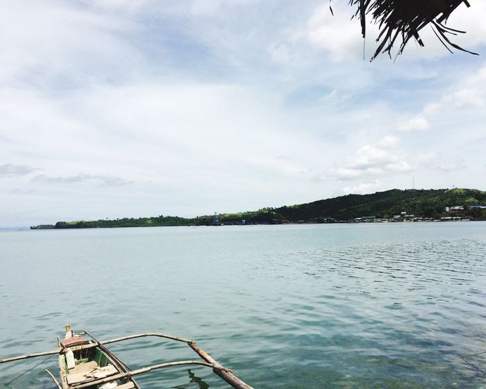 Overlooking The Sea Seaside Town Peaceful View Water Mode Of Transport Boat Quezon Province Philippines Sky Nature Mountains And Sky Sea Nautical Vessel Scenics