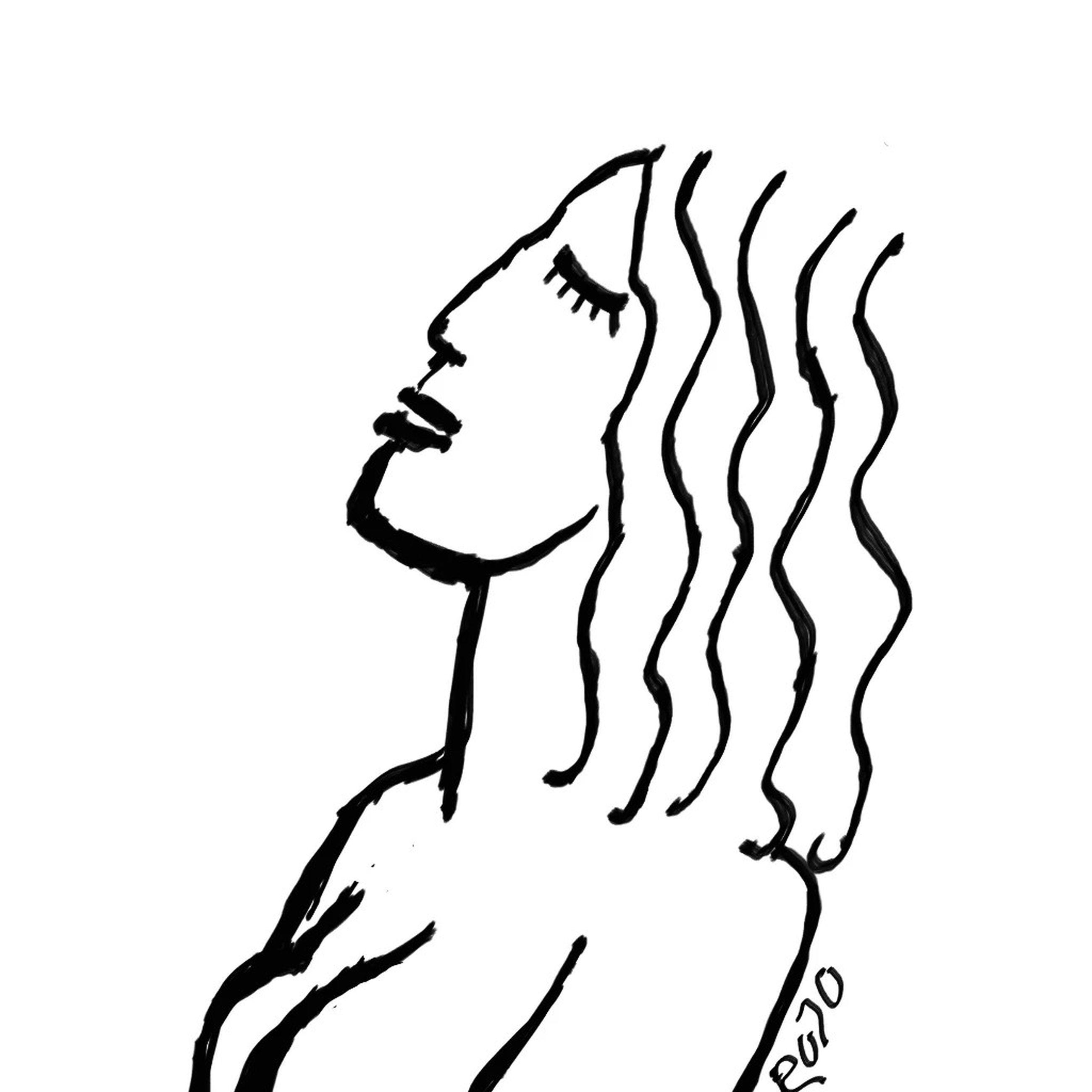 line art, black and white, sketch, cartoon, drawing, creativity, studio shot, indoors, silhouette