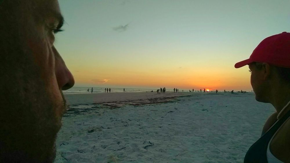 Sunset Onlookers Beach Life Watching The Sunset Florida Sunset PeopleOfTheOceans Gulf Of Mexico Sitting On The Beach Enjoying Life Relaxing Ocean Photography Enjoying Life Beach Photography Sunset Silhouettes Scenery