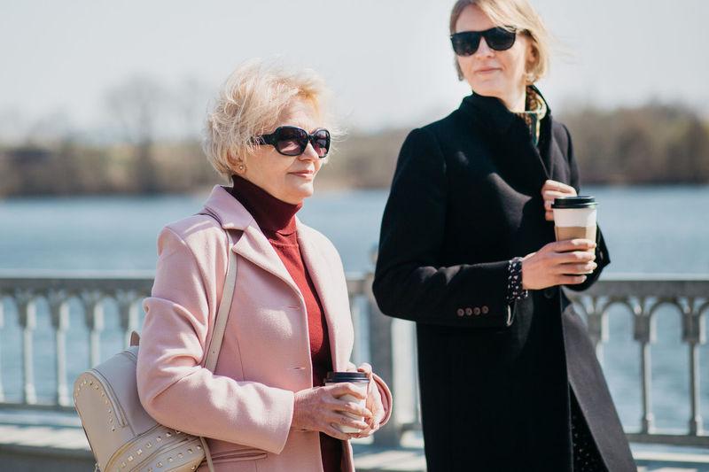 Mother and daughter spending time together. enjoying springtime.