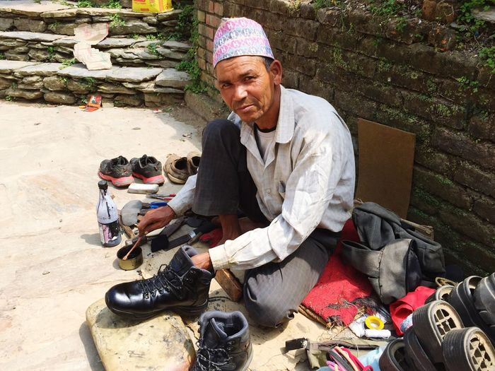 Life In Nepal Shoe Shine