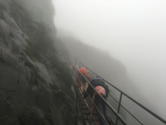 The Journey Is The Destination Bautiful Journey Rails To The Peak Cloudy Trekking Trekkers Beautiful Day Best Routes Rainy Days Mountains Captured At Ratangad (Maharashtra, India) IPhone 6s Climbing Adventure