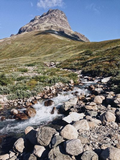 Creek, Jotunheimen National Park, Norway Mountain Nature Landscape Rock - Object Outdoors Tranquility Scenics Day Tranquil Scene Beauty In Nature No People Mountain Range Clear Sky Sky Norway Jotunheimen