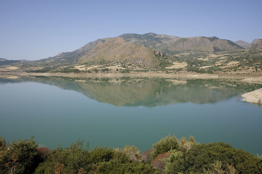lake rosamarina Arid Climate Beauty In Nature Clear Sky Day Lake Landscape Mountain Mountain Range Nature No People Outdoors Reflection Scenics Sky Tranquil Scene Tranquility Water