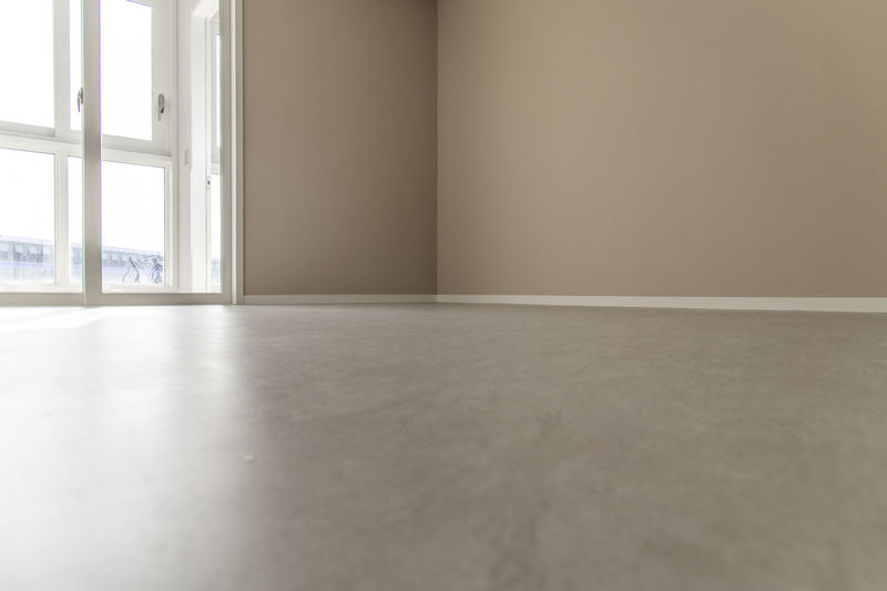 Surface level of empty room