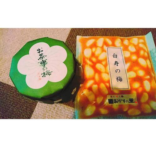 ∴京都からのおいしいお土産。 おうすの里 梅干 お茶事の梅 ニンニク 白寿の梅 梅 お土産 京都 Instakyoto