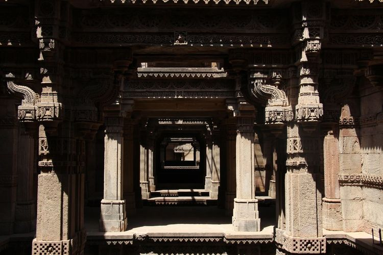 Adalajstepwell Ahmedabad India Creative Light And Shadow Creativity Day Light And Shadow No People Outdoors EyeEmNewHere Welcome To Black The Secret Spaces The Architect - 2017 EyeEm Awards The Architect