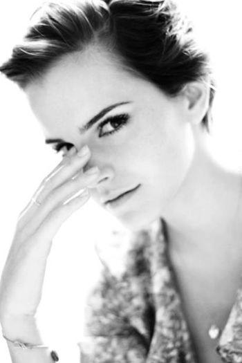 Beautiful Blackandwhite Hot Emma Watson