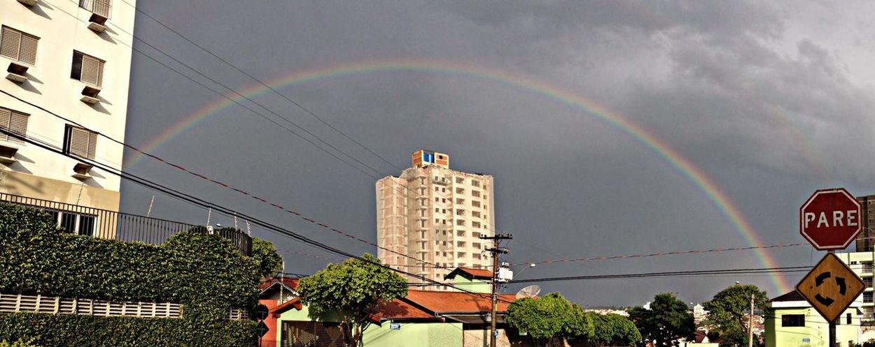 ? Taking Photos Rainbow Sky Hello World