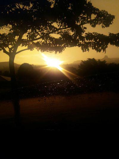 Por do sol com garoa em Analândia. Nature Silhouette Reflection First Eyeem Photo