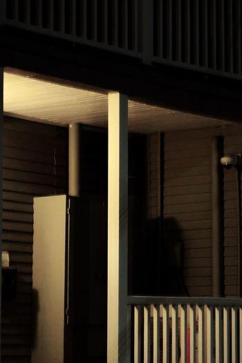 Porch light at