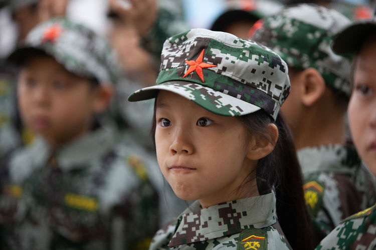 Camouflage Clothing Military Army Portrait Headwear Army Soldier Military Uniform Headshot Patriotism Young Women