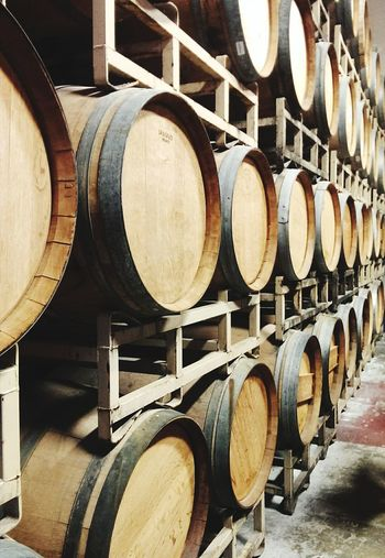 Wine Cellar Wine Cask Cellar Wine Winery Winemaking Barrel In A Row Indoors  Wood - Material Alcohol No People Food And Drink Business Finance And Industry Abundance Food And Drink Industry Arrangement Industry Stack Keg Wine Not