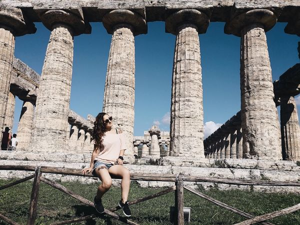 #archeology #paestum City Sky Archaeology Ancient Civilization Old Ruin Ancient History Civilization Monument Ancient Rome Historic Amphitheater Architectural Column Ancient Ruined