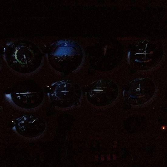 Night cross-country flight.