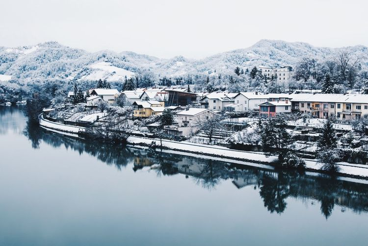 Slovenia Tranquility Wintertime Beauty In Nature Built Structure Cold Temperature High Angle View Maribor Mountain Nature Nature_collection Nature_perfection Naturelovers Reflection Scenics Snow Tranquil Scene Urbex Winter Winter Wonderland