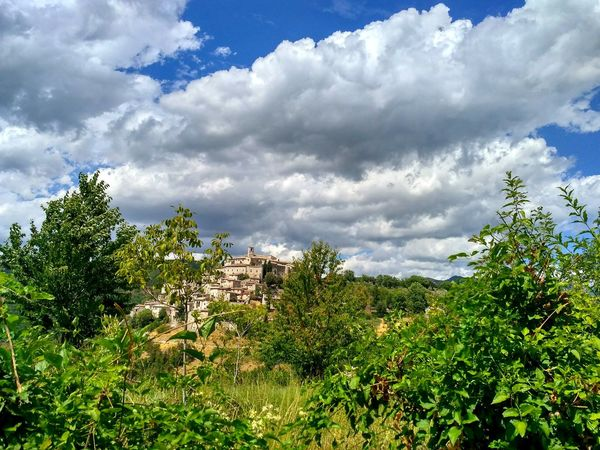 Cloud - Sky Tree Nature Outdoors Sky Plant Green Color Landscape Day No People Scenics Rural Scene Labro Rieti, Italy