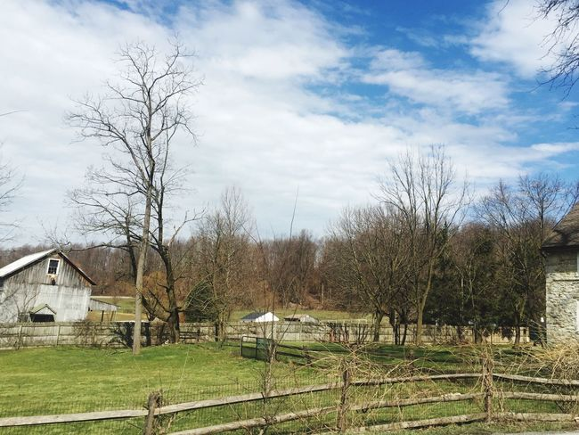 Pennsylvania Pennsylvania Beauty Pennsylvaniaphotography Pennsylvania Landscape Pennsylvania Love Amish Country Amishcountry Tree Bare Tree Sky Built Structure Building Exterior No People Architecture Cloud - Sky House Outdoors Day Tranquility Nature Grass Chester County Pennsylvania EyeEmNewHere