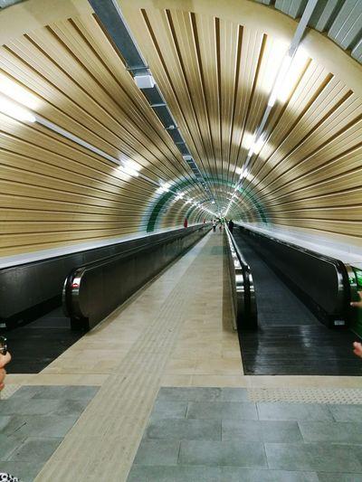 Modern Illuminated Transportation Underground Station  Spoleto-Umbria <3