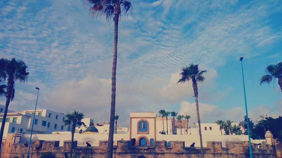 Sqala Casablanca Monument 19th Century Morocco Culture Wall Tourism Sky Morning Clouds And Sky