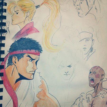 Sketch street fighter Paint Streetfighter CAPCOM Sketch ryu dhalsim