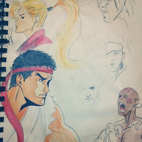 Sketch street fighter Paint Streetfighter CAPCOM Sketch ryu dhalsim