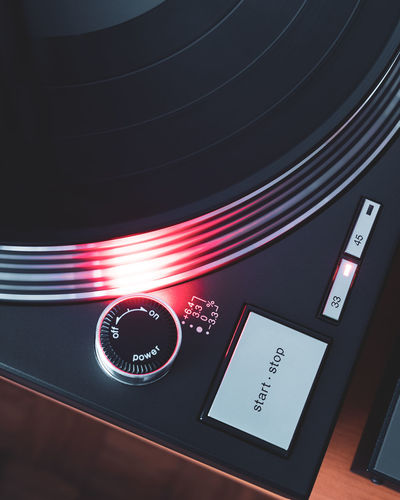 DJing Dj Light Music Sound Technics Turntable Vinyl Control Design Illuminated Motion Push Button Record Recording Studio Red Scratch Shape Spinning Strobe Technology Text