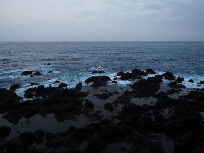 Canary Islands Beach Beauty In Nature Cloud - Sky Horizon Horizon Over Water Land Nature No People Non-urban Scene Outdoors Rock Rock - Object Rock Formation Rocky Coastline Scenics - Nature Sea Sky Solid Tenerife Tenerife Island Tranquil Scene Tranquility Water