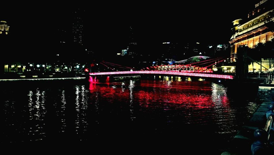 Still in Spore Night Architecture City Outdoors River No People Water Architecture Reflection Singapore Cityview EyeEm Selects The Week On EyeEm Bridge Nightlife Elgin Bridge